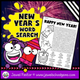 New Year's 2019 Activities (New Year's Word Search)