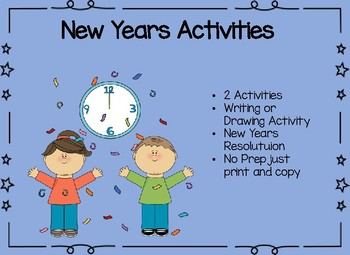 New Years Activities Craft