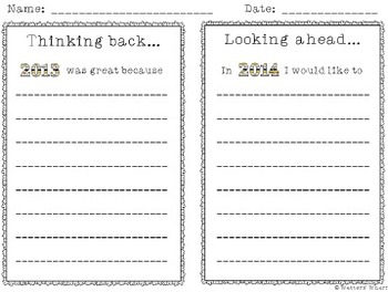 New Year's Activities - First Grade CCSS