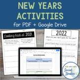 New Years Activities For Middle School Students: Reflection + Goal Setting