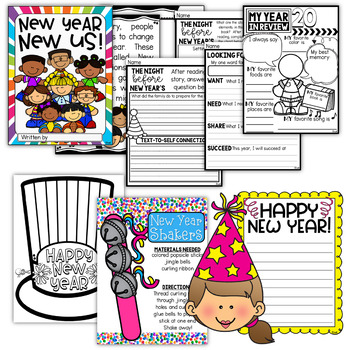 New Years Activities ~ Literature, Nonfiction Articles, and Craftivities