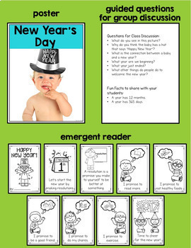 New Year's Activities, Printables, Craftivity, Resolutions