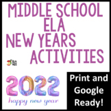 New Years Activities for Middle School ELA Printable & Digital Activities!