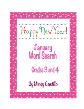 New Year's Activity- A New Year Word Search