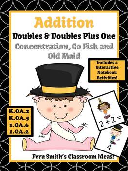 New Years Addition Doubles and Addition Doubles Plus One Centers and Printables