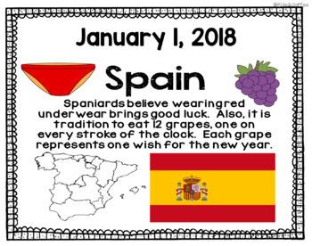 New Years Around The World Packet