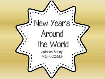 New Year's Around the World Comprehension, Compare/Contrast, and Vocabulary