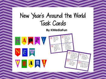 New Year's Around the World Task Cards by KMediaFun