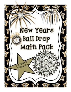 New Years Ball Drop 2 Digit Addition/Subtraction