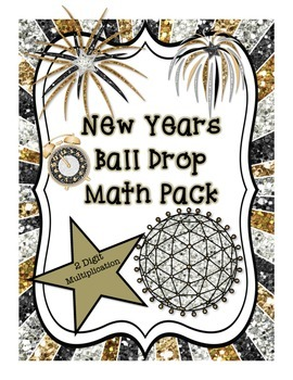 New Years Ball Drop 2 Digit Multiplication