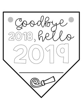 New Years 2019 Banner Writing Activity