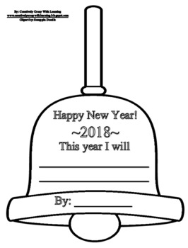 New Year's Bell Craftivity Freebie!