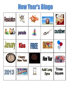 New Year's Bingo