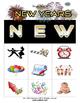 New Years Bingo Set with Flashcards