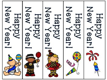 New Years Bookmarks