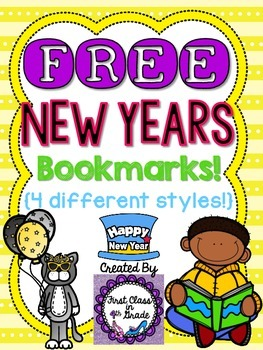 New Years Bookmarks (Free)