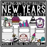 New Years Bulletin Board 2019 Teach-Go Pennants® New Year Goal Setting