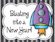 New Years Bulletin Board. Blasting into a New Year! Rockets