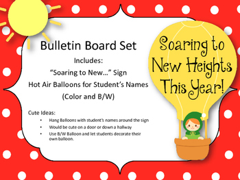 New Years Bulletin Board Set. Soaring to New Heights This Year!
