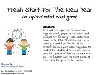 New Year's Card Game