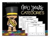 New Years Categories [NO PREP - Print and GO!]