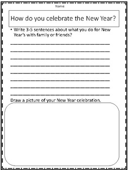 New Years Celebrations Packet