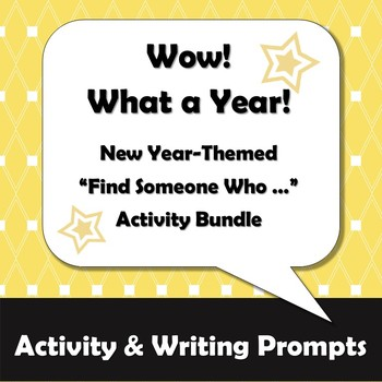 New Year Activity Bundle: Wow - What a Year!