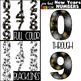 New Years Clip Art BUNDLE- New Years Fireworks Letters, Numbers, & Shapes