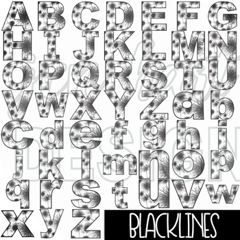 Alphabet Letters Clip Art - New Years Letters {jen hart Clip Art}