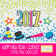 2017 New Years Clipart, New Years Clip Art: Multi-Colored Version