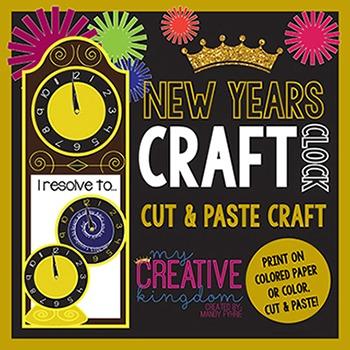 New Years Clock Craft