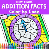 New Years | Color-by-Code Addition | Color by Number