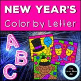 New Years Color by Letter   Alphabet Coloring Pages