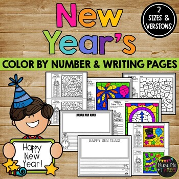 New Years 2019 Coloring Pages And Writing Sheets Free Yearly Updates