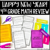 New Year's Math Booklet {4th Grade Grade Math Review: All Common Core Standards}