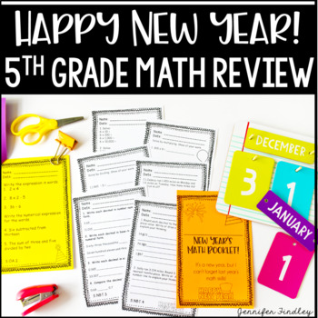 New Year's Math Booklet {5th Grade Grade Math Review: All Common Core Standards}