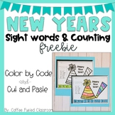 New Years Count Down & Sight Word Freebie