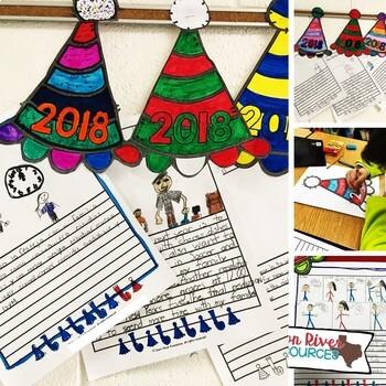 New Years Craftivity | New Years Writing Activity | 2020 New Year Resolution
