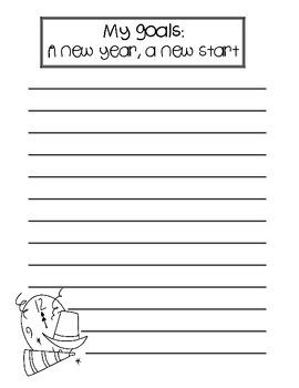 New Year's Craftivity + Writing