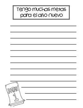New Year's Craftivity + Writing {Spanish}