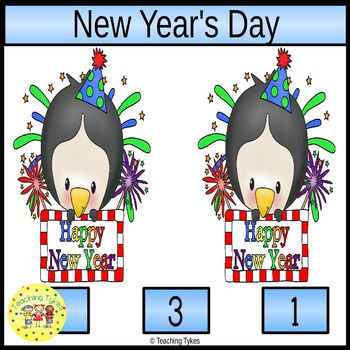 New Year's Clip Task Cards