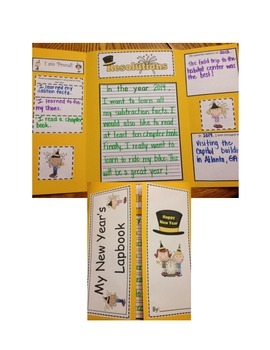 New Year's Lapbook/Foldable Resolutions Writing Activity