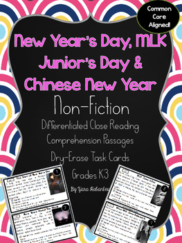 New Year's Day, MLK Junior, Chinese New Year Nonfiction Re