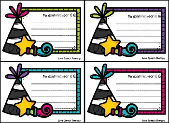 New Years Day Resolution Cards - FREEBIE