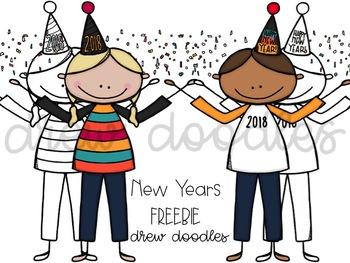 New Years Digital Clip Art FREEBIE