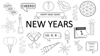 New Years Doodle Clipart