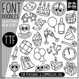 New Years Doodle Font {Zip-A-Dee-Doo-Dah Designs}