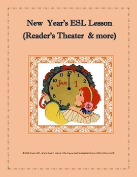 New Year's ESL Lesson (Reader's Theater & More) - Intermed
