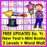 New Year's Activities 2019 - Mini Books 3 Levels + Illustr