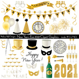New Year's Eve 2021 Digital Clipart Graphics